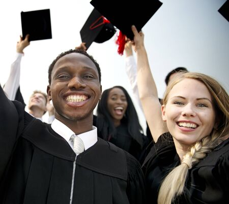 Group of diverse graduating students Stock Photo - 89605491