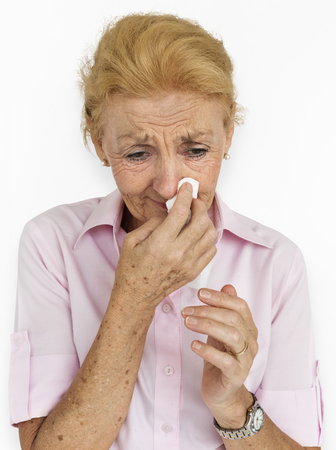 Portrait of a senior caucasian woman Stock Photo