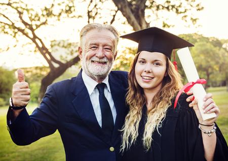 Grad bij graduatieceremonie Stockfoto