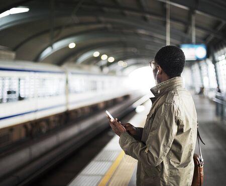 Train Transit Commuter Transportation Urban Concept Stock fotó - 89602960