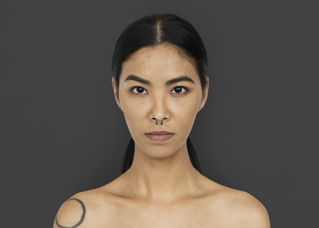 Asian Woman Stylish Studio Фото со стока