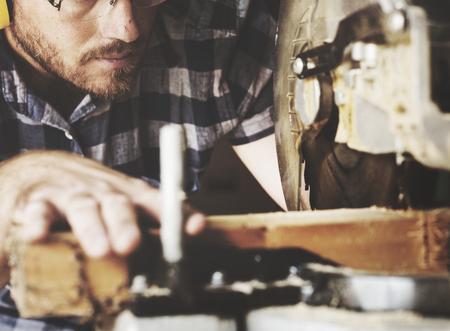 Artisan working with wood Zdjęcie Seryjne