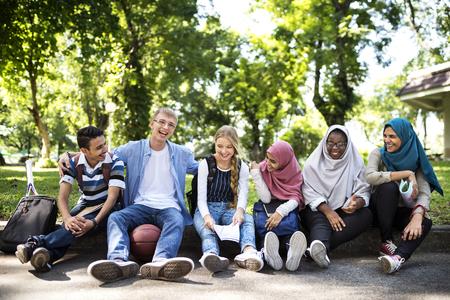 A group of diverse teenagers Banco de Imagens - 89603697