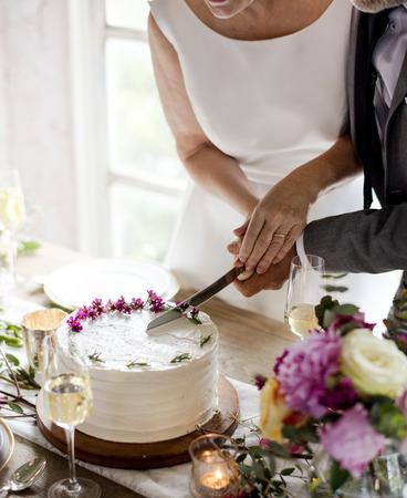 Bridge and groom wedding day 版權商用圖片 - 89602552