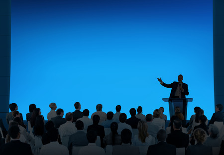 Man giving presentation to audience