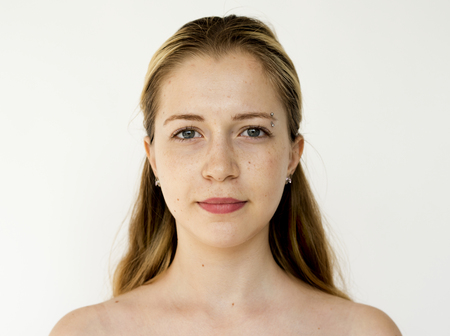 Portrait of a girl with blonde long hair Stockfoto