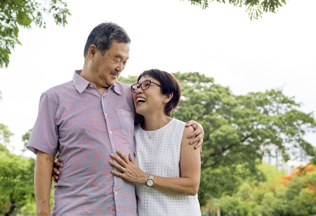 Ältere Paare , die außerhalb des Konzeptes