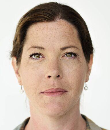 Portrait of a woman with freckles Banco de Imagens