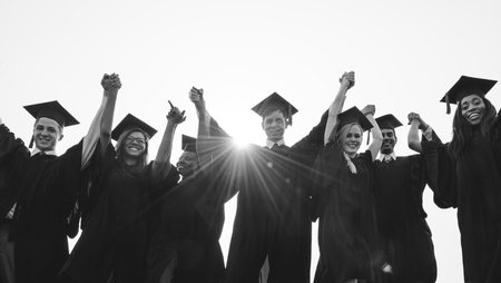 Group of diverse graduating students Stock Photo - 90264924
