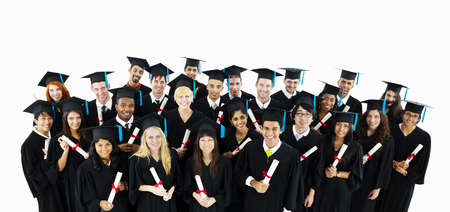 Diverse group of graduating students Stock Photo
