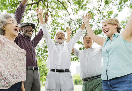 Group of Senior Retirement Friends Happiness Concept