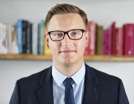 free education: Smart looking teacher Stock Photo