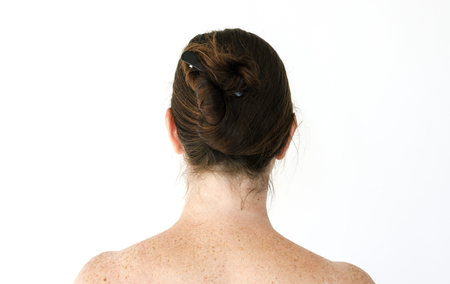 The back of a naked woman Stock Photo