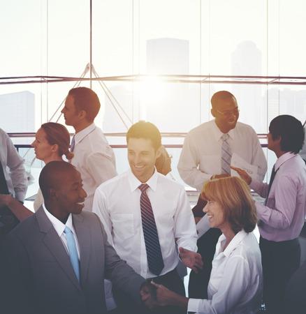 Business People Handshake Agreement Corporate Concept Stock Photo