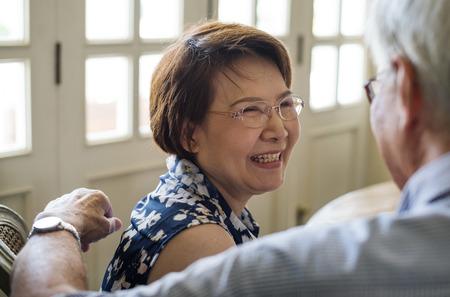 Senior Couple Daily Lifestyle Happiness Stock Photo