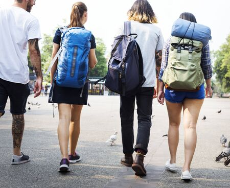 Backpackers in Chiang Mai Thailand