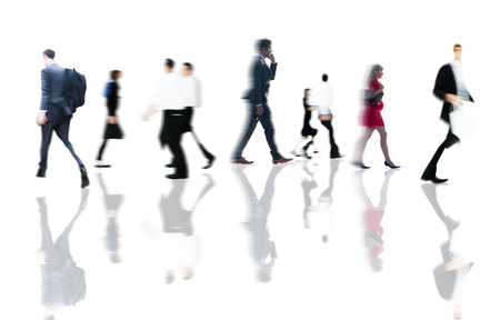 Business People Rush Hour Walking Commuting Concept Stok Fotoğraf