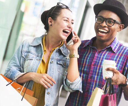 People Shopping Spending Customer Consumerism Concept Stock Photo - 90039074