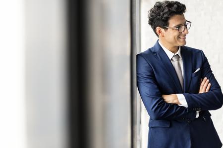 Businessman Office Worker Smiling Handsome Concept