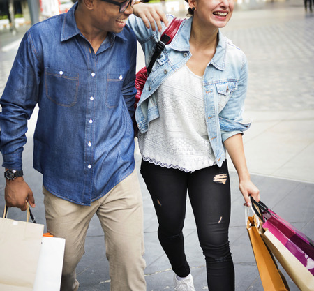 consumerism: Friends shopping together