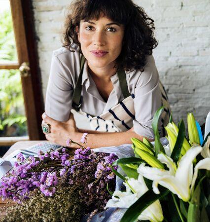 Flower shop owner Zdjęcie Seryjne