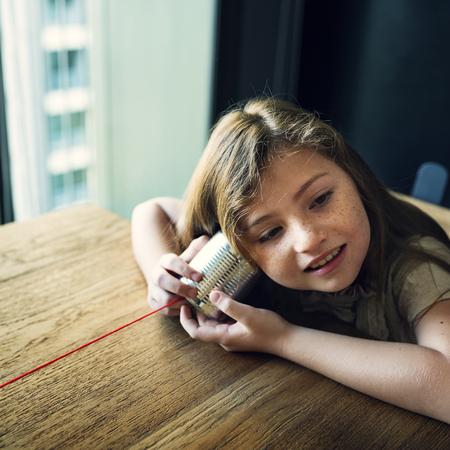 Tin Can Phone Girl Concept