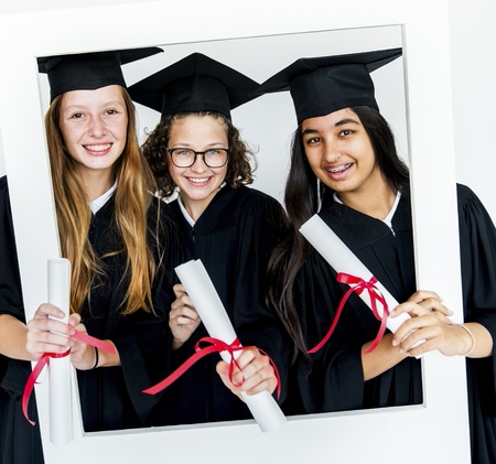 Graduated Student Education School Academic Stock Photo
