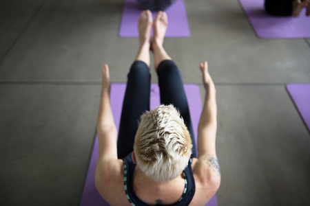 People is doing a yoga