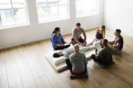 Health Wellness Massage Training Concept Imagens