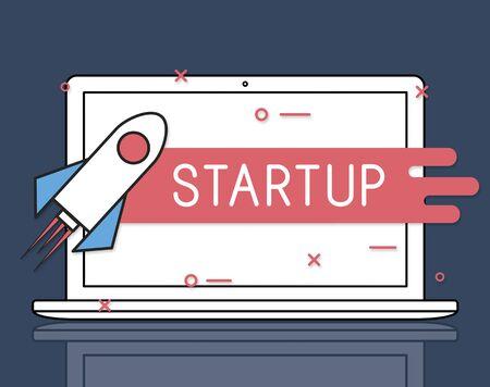 Illustratie van een laptop Stockfoto