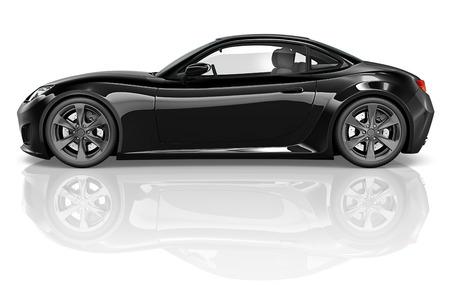 黒の車のイラスト 写真素材