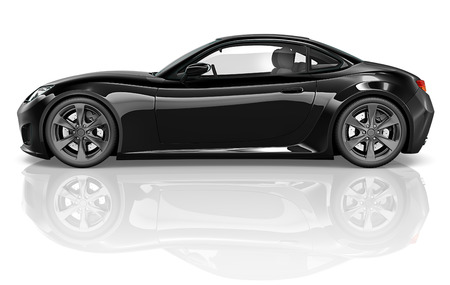 Illustration of a black car