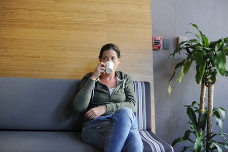 Startup Business Drinking Coffee During Office Break Time