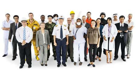 Large group of professionals Foto de archivo