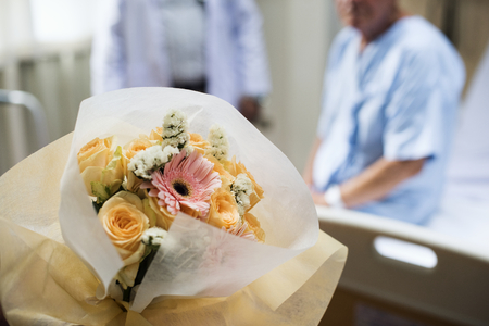 Flowers bouquet to visit sick people at a hospital