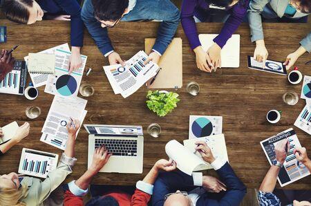 Group of business people having a meeting 版權商用圖片