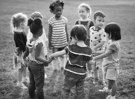 Kids having a fun time together Фото со стока
