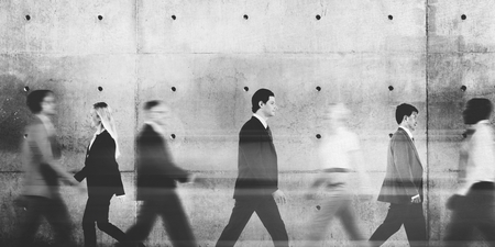 Business People Commuter Walking Abstract  Concept Stock Photo