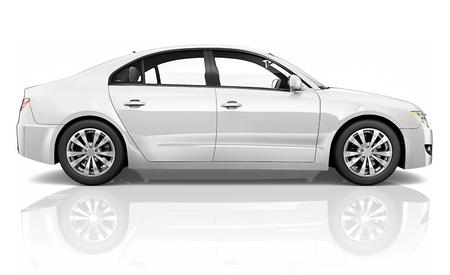 Illustratie van een witte auto Stockfoto