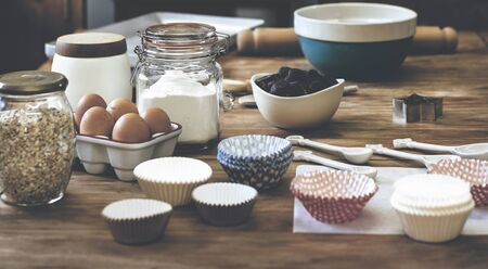 Baking preparation 版權商用圖片