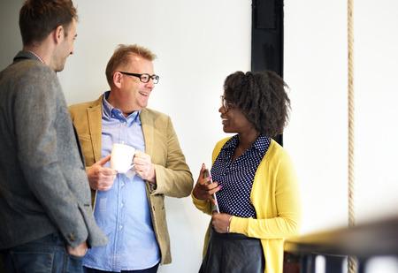 Colleagues having a discussion Banco de Imagens