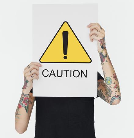 Caution Alert Critical Error Failure Notice Zdjęcie Seryjne