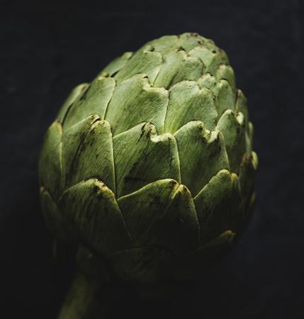 Macro shot of artichoke vegetable