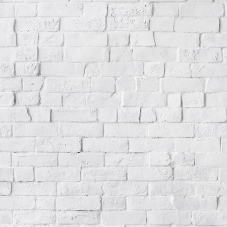 White Painted Beautiful Brick Wall Фото со стока