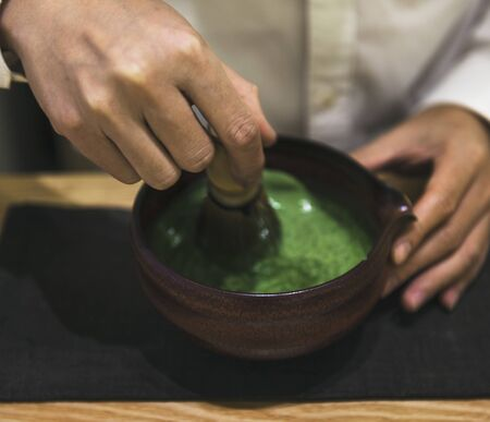 Traditional Japanese Matcha green tea