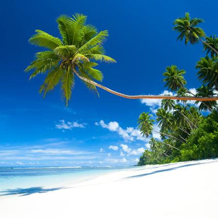 Tropical beach on Samoa Stock Photo
