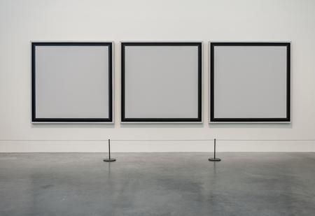 ギャラリーの空のフレーム 写真素材