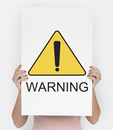 Warning Sign Caution Icon Word 写真素材