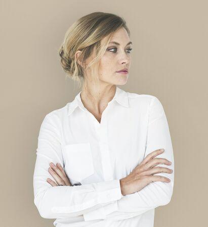 Portrait de femme confiance en soi estime de soi Banque d'images - 90683216