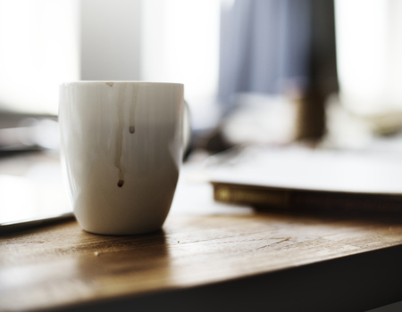 Image of a coffee cup with smudge